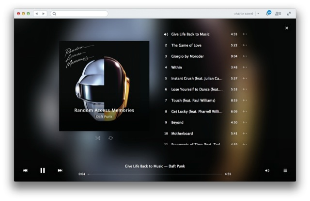 Rdio Updates Mac App To Add Brand New In-App Music Player