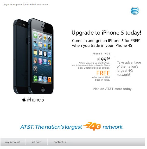 AT&T Offering Free iPhone 5 Handset With iPhone 4S Trade-In?