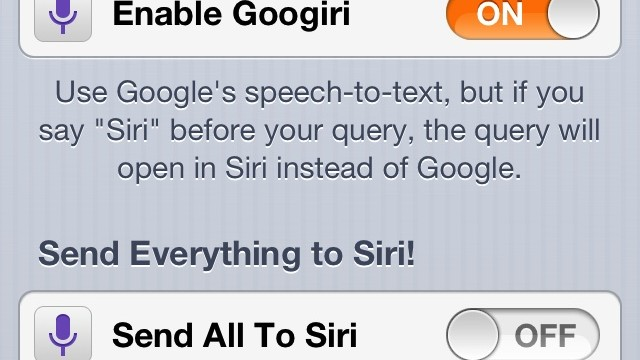 Cydia Tweak: Googiri Combines The Best Of Both Siri And Google Voice Search