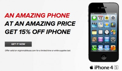 Virgin Mobile Offers 15 Percent Discount On Prepaid iPhone 4, iPhone 4S