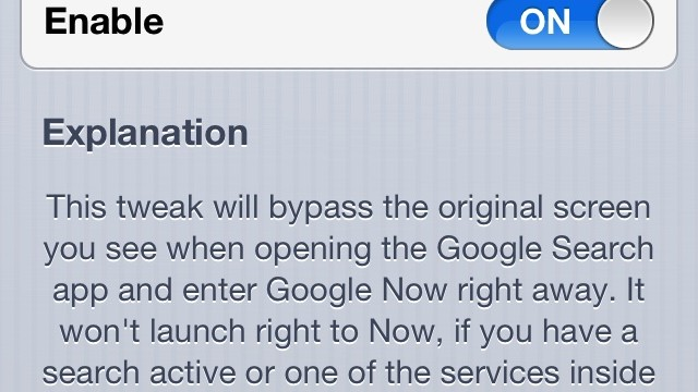 Cydia Tweak: How To Force Google Now To Appear First In The Search App