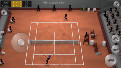Ahead Of The French Open, Play A Couple Of Sets Of Stickman Tennis For iPhone