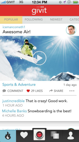 It's The Video-Sharing App That Keeps On Giving: Givit Gains Another Big Update