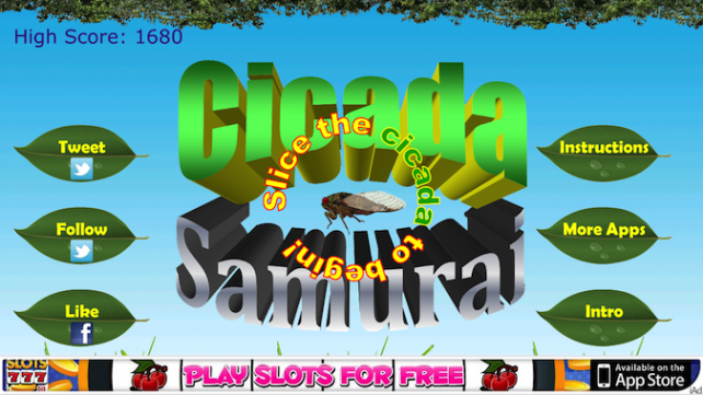 Quirky App Of The Day: Cicada Samurai Is A Hero We All Need