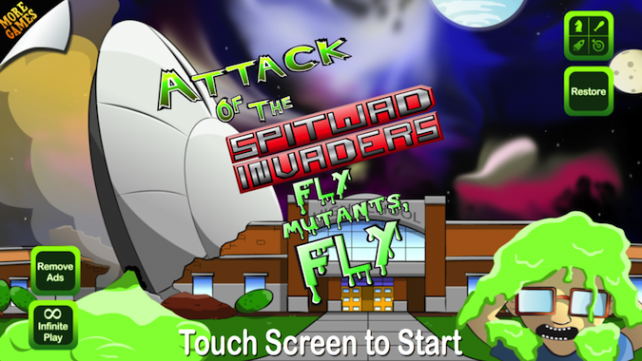 Quirky App Of The Day: Take Down Mutants In Attack Of The Spitwad Invaders