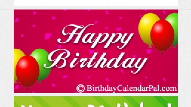 Never Forget To Send A Birthday Greeting With Birthday Calendar Pal