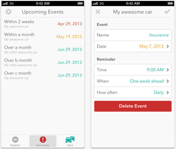 Keep On Top Of Car Maintenance With Carminder For iOS
