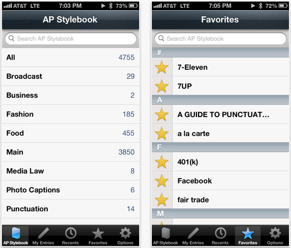 AP Stylebook Gets iPhone 5 Optimization, Now Saves Notes When Updating