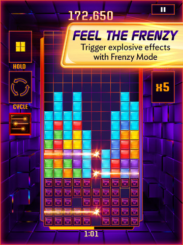 Time Is Of The Essence As You Stack Tetriminos And Clear Lines In Tetris Blitz
