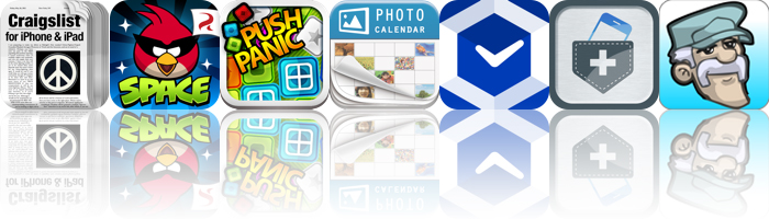 Today's Apps Gone Free: Craigslist, Angry Birds Space, Push Panic And More