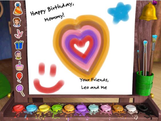 Leo's Birthday Card Maker Is Perfect For A Budding Artist
