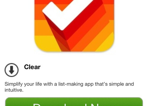 Popular To-Do App Clear Is Free For Today Only