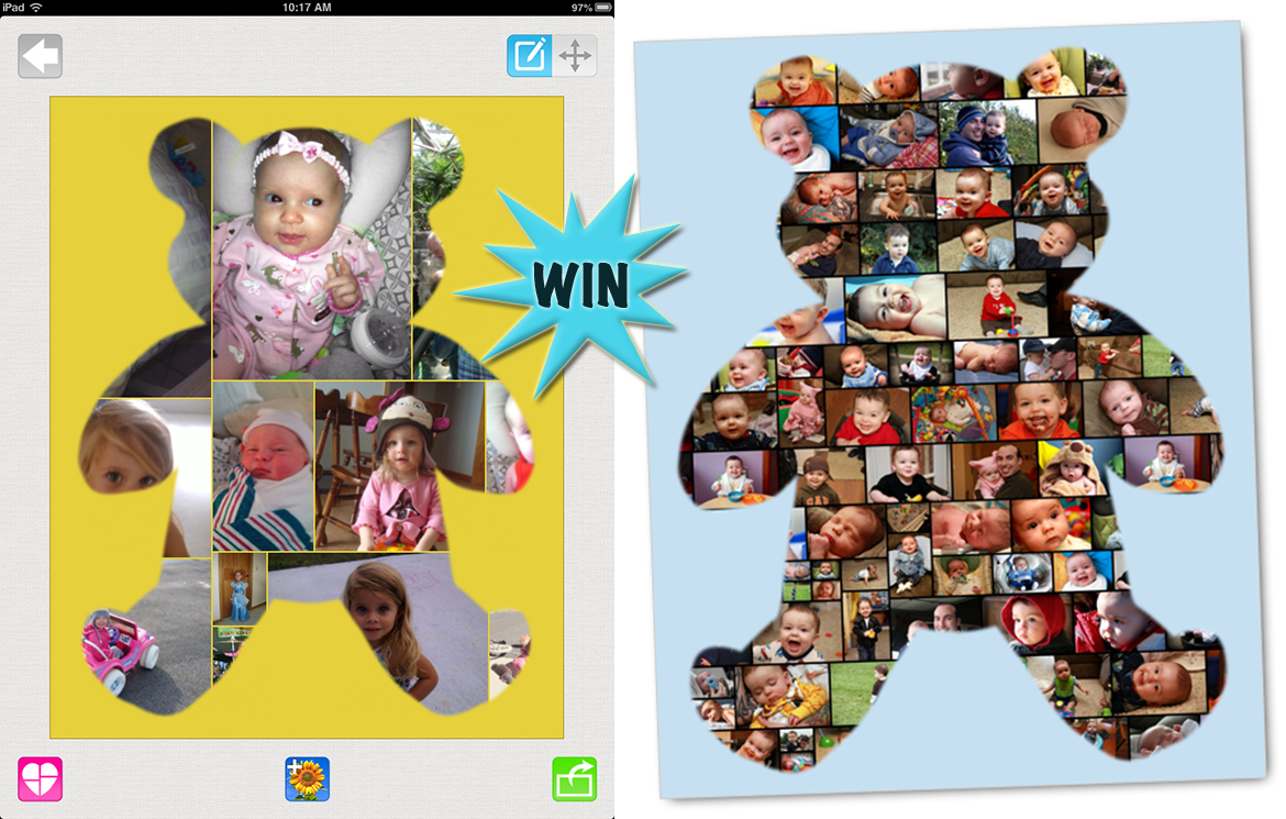 win a custom collage poster and share your moments as beautiful artwork