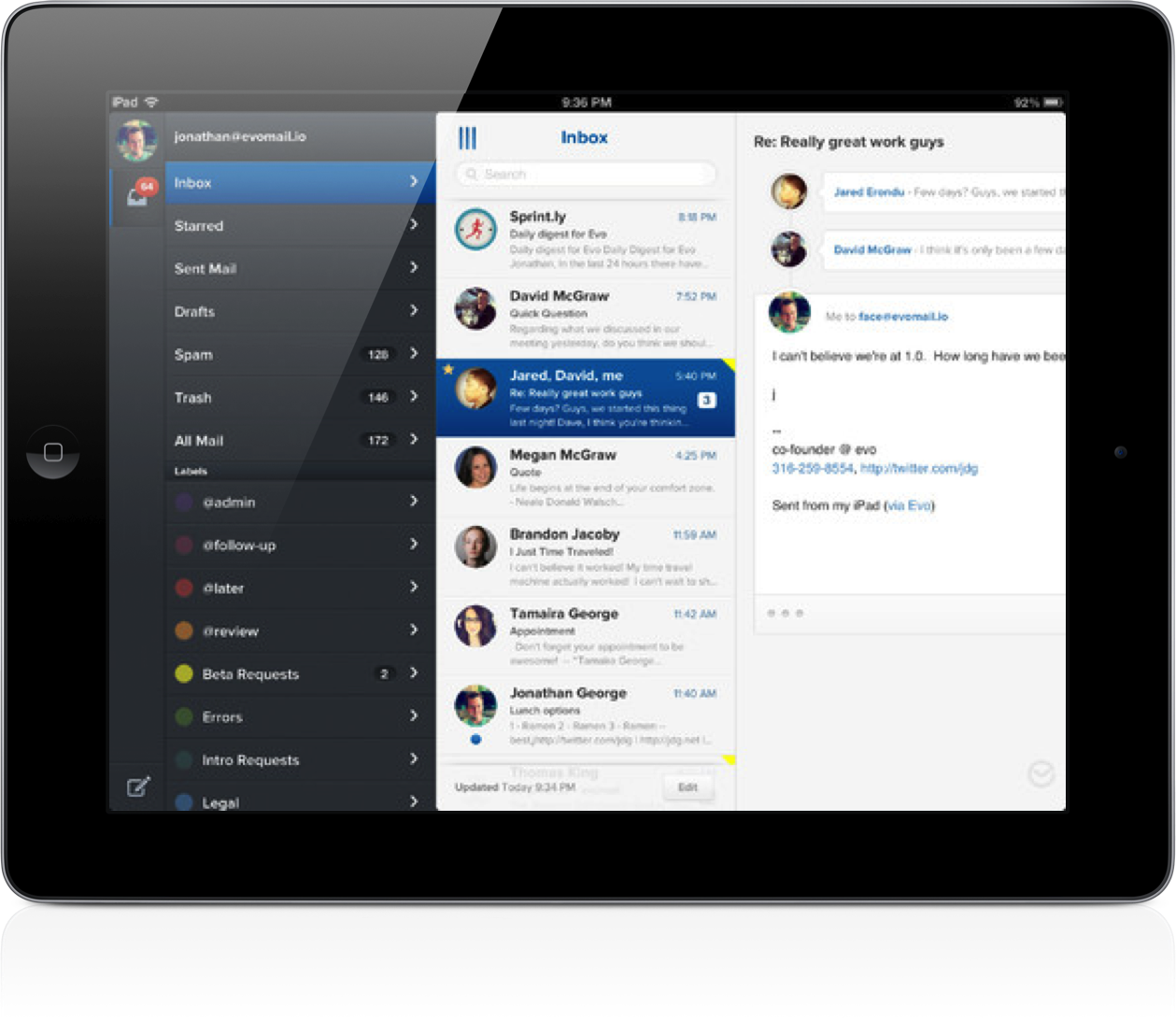 Evomail Becomes The Latest Email App To Launch For iPad