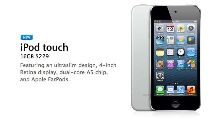 Apple Unveils iSight-Less 16GB Fifth-Gen iPod touch, Now Available For $229
