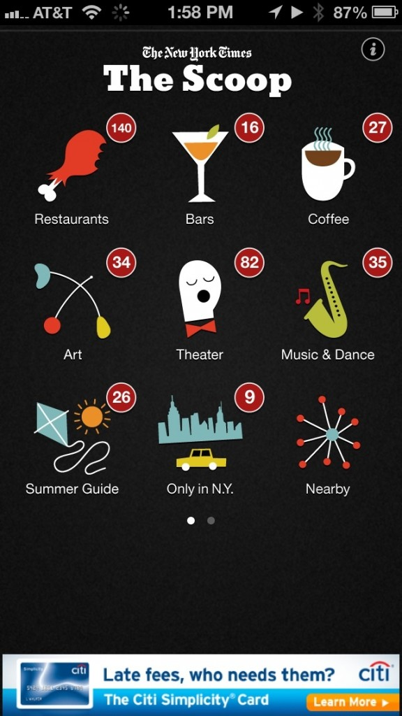 Travelers To New York City Should Check Out The Revised Scoop App For iPhone