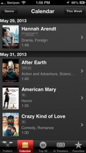 Fandango Integration Highlights The Updated iTunes Movie Trailers App