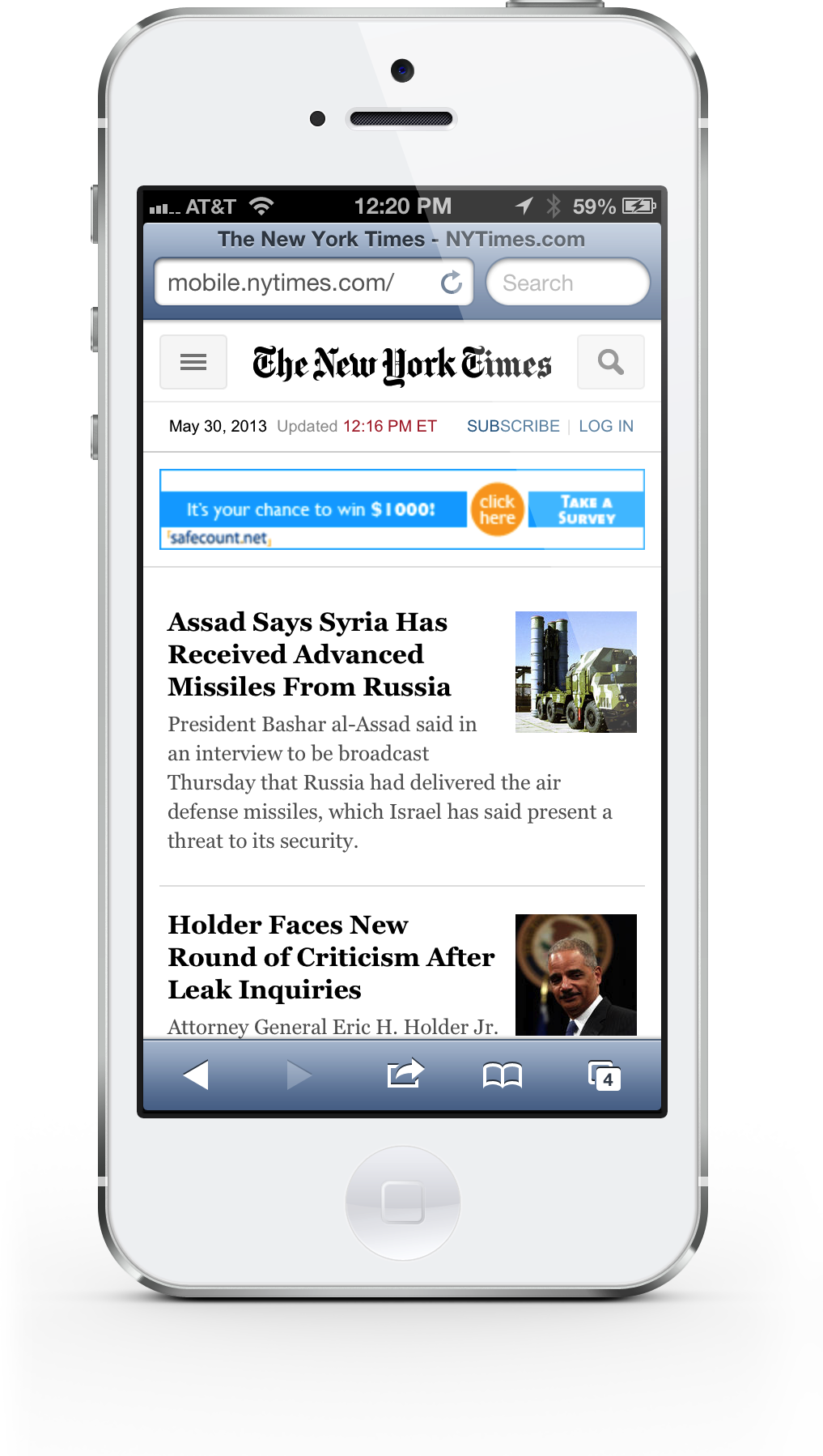 The New York Times Updates Its Mobile Website For First Time In Seven Years