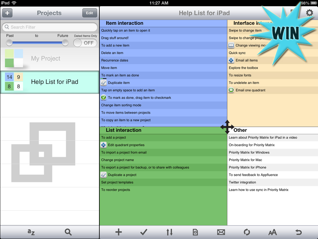 Win Priority Matrix For iPad And Tackle Those To-Dos With Ease