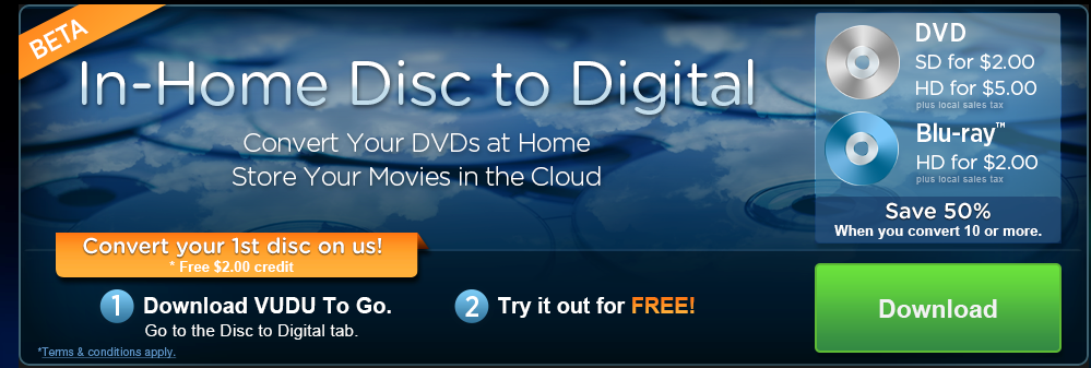 You Can Now Convert Disks To Digital Format From Home Using Walmart's Vudu Service