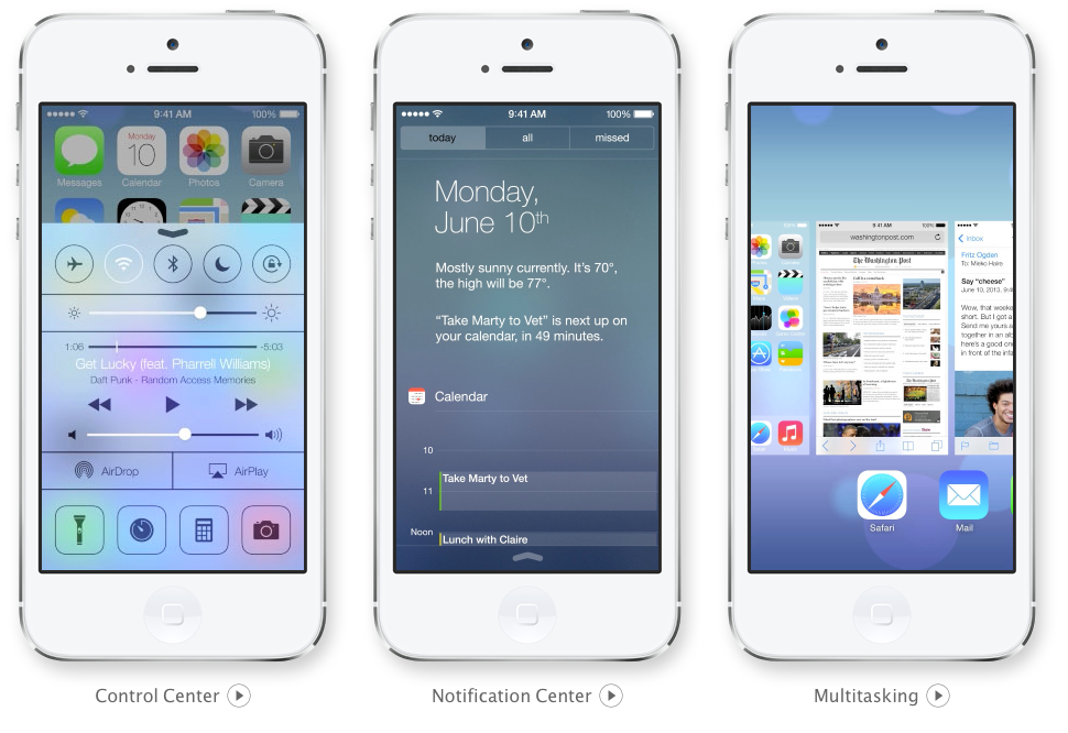 Key new iOS 7 features