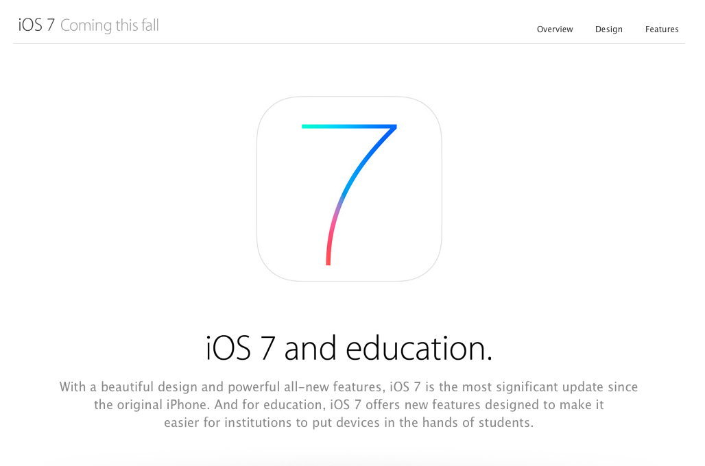 Apple Begins Introducing iOS 7 To The Business And Education Communities