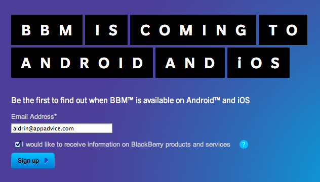 BlackBerry Messenger Is Still Coming To The App Store, Just Not On June 27