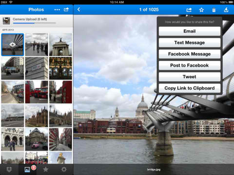Dropbox For iOS Updated With Sharing Enhancements Plus New Swipe-Based Menu