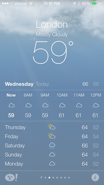 It's A Beautiful Day: Hands-On With Apple's Impressive iOS 7 Weather App