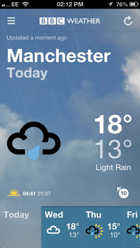 BBC Releases Its First Official Weather App For iPhone