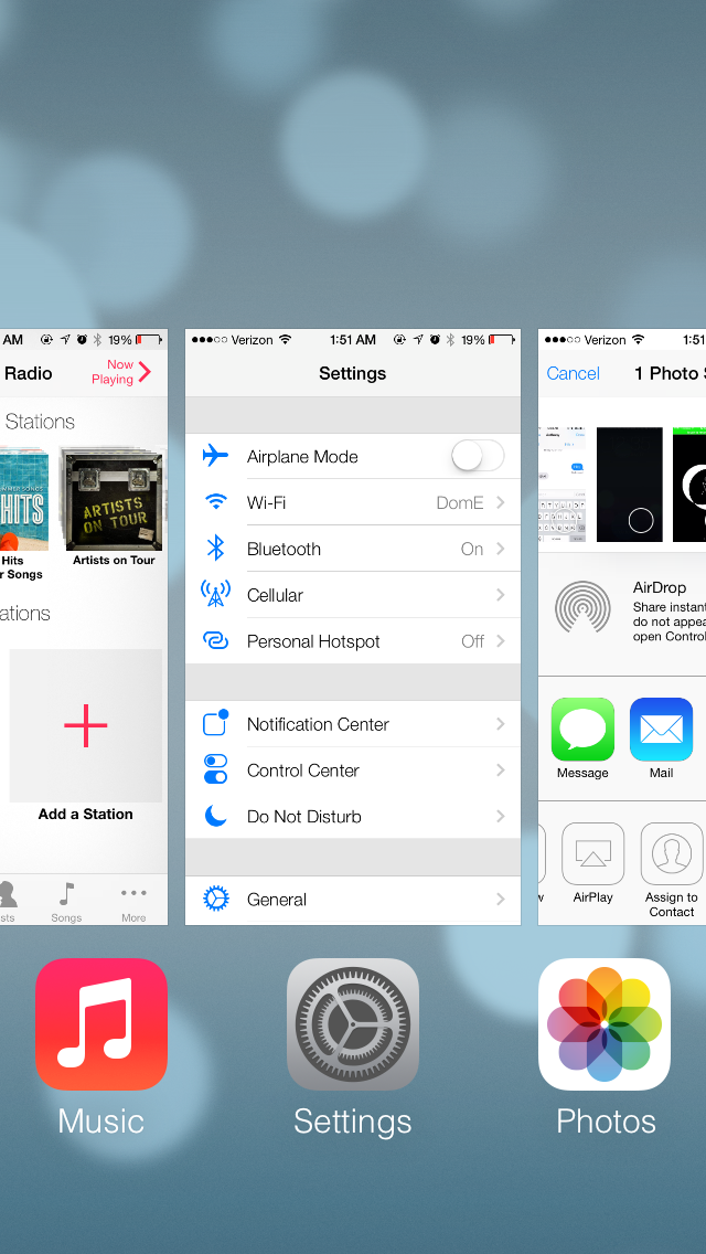 Hands-On With Apple's Jailbreak-Inspired iOS 7 App Switcher