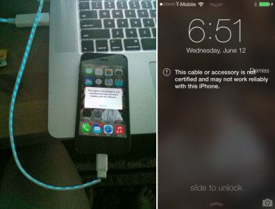 Apple's iOS 7 Doesn't Block Non-Certified Lightning Cables, Just Warns
