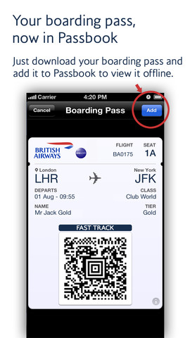 British Airways For iPhone Gets Passbook Support In Latest Update