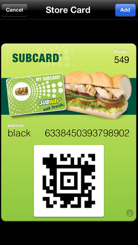 Passbook Continues To Grow In UK As Subway Updates Its SUBCARD App
