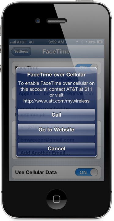 AT&T Enables FaceTime Over Cellular For Certain Subscribers
