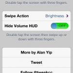 Cydia Tweak: Use Gestures To Adjust Brightness, Volume And More With DoubleTap
