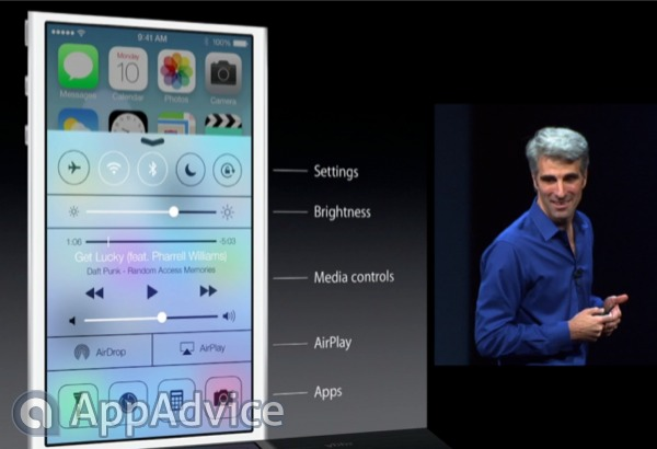Apple Adds New Control Center To Its Mobile OS In iOS 7