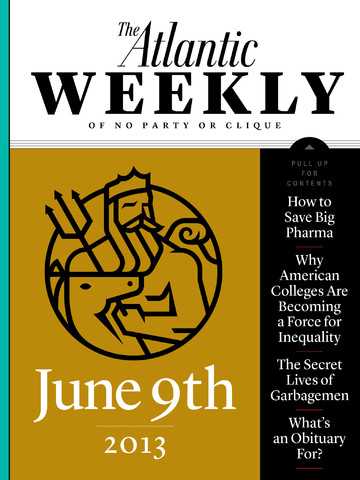 The Atlantic Weekly Magazine Launches For iOS