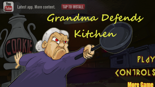 Quirky App Of The Day: Grandma Defends Her Kitchen Using Only A Frying Pan