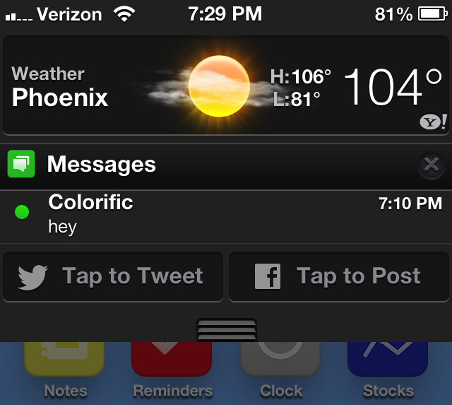 Cydia Tweak: NCEnough Shortens Notification Center Based On Its Contents