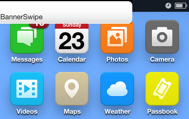 Cydia Tweak: BannerSwipe Adds A Sliding Animation To Notification Banners