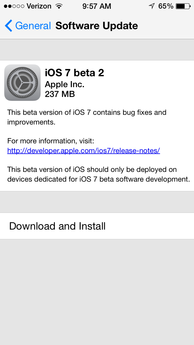 Apple Releases iOS 7 Beta 2 With iPad Support, Download Now OTA