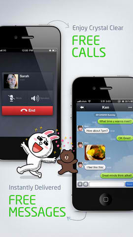 Line Messaging App Updated With Built-In Browser, Theme Support And More