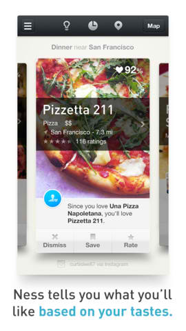 Context-Based Restaurant Finder App Ness Updated With Search Enhancements