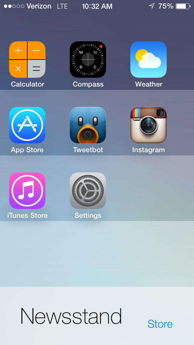 New iOS 7 Beta Glitch Lets You Put Apps Inside Of Newsstand