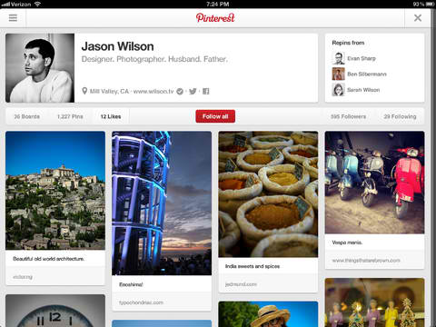 Dude, Where's My Pin? Pinterest For iOS Now Lets You Search Your Own Pins