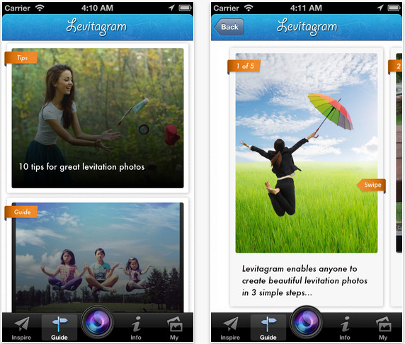 Levitagram Updated To Add A New 'Uplifting' User Interface And More