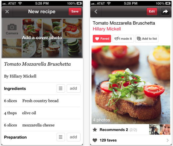 Foodily Updated To Make Recipe-Sharing Even Easier