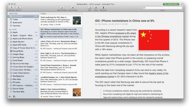 NetNewsWire Beta Is Now Available For Mac, Just Days Before Google Reader Goes Offline