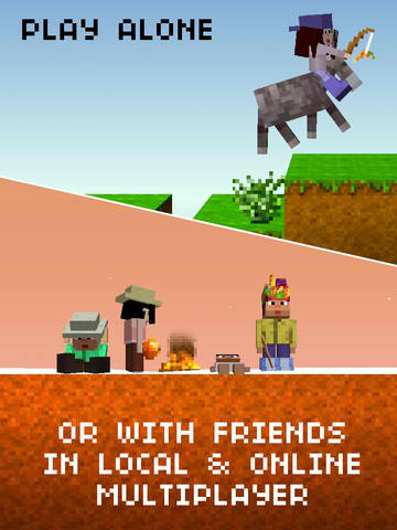 You Can Now Play The Blockheads With Others Via Online Or Local Multiplayer